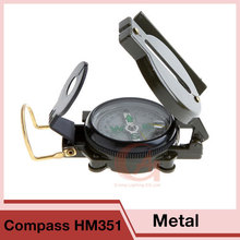 Outdoor Portable Mini Military Soldier Equipment Metal Lensatic Compass HM351 Hiking Camping Hunting Marching HT19-0006