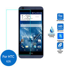 2pcs/lot Real 9H 2.5D 0.26mm New Luxury Tempered Glass Screen Protector Film for HTC Desire 626 626G 626s D626n D626d 626G+