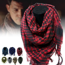100% Cotton Thick Muslim Hijab Shemagh Tactical Desert Arabic Scarf Arab Scarves Men Winter Military Windproof Scarf