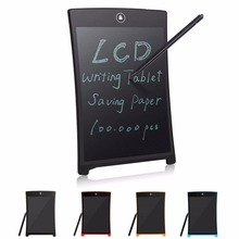 Hot 4-Color 8.5 Inch LCD Writing Tablet Digital Drawing Electronic Tablet Board Ultra-Thin Handwriting Pad With Stylus Pen C26(China)