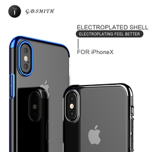 G.D.SMITH Hard Case for iPhone X Pocket Luxurious Transparent Plastic Case for iPhone 8 Ultra Thin Cover Coating Phone for Int(China)