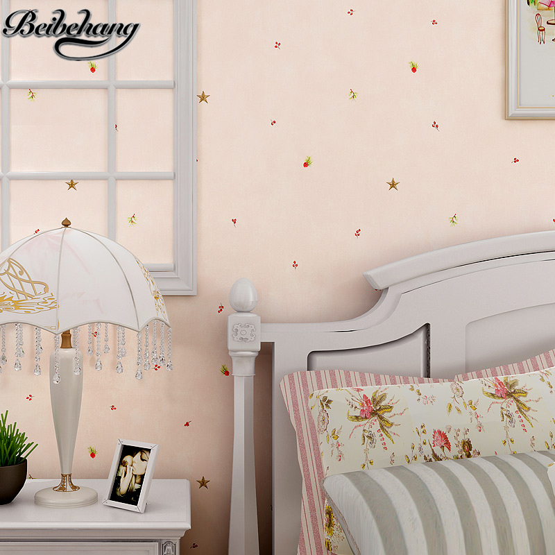 beibehang American cartoon star pine nuts children nonwovens 3D wallpaper warm children bedroom wallpaper Papel de Parede <br>