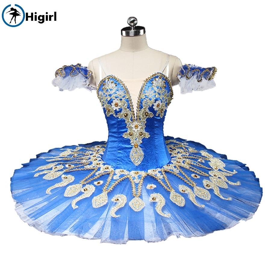 Free shipping! Custom skirt dress adult women Professional dance girls and woman blue romantic dress ballet tutu BT9134C