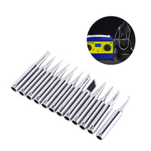 12Pcs Lead-free Soldering Tip Solder Replacement Tips 900M-T Rework Station Tool Silver(China)