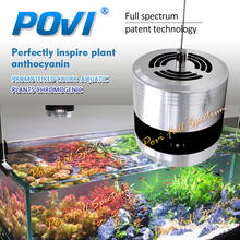 POVI LED grow light for fish tank with plenty of water and lush grass,inlluminate above an aquarium perfectly inspire plant anthocyanin use for waterweeds water plants aquatic weed carry out photosynthesis under the water(China)