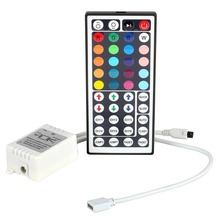 DVOLADOR 12V 24/44 Keys Remote Controller with IR Signal Receiver for 5050 3528 RGB LED Strip Lights/Tape Lights/Ribbon Light(China)