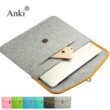 Hot sale Various Style Wool felt  Laptop sleeve bags 11 12 13 14 15 Inch Notebook Computer Case for Macbook