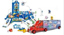 Hot Canine Patrol Dog Toys The patrol container truck parking orbit suits