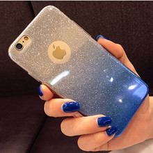 Buy Fashion Gradient Glitter Soft TPU Case iPhone 6 6S 7 Plus Phone Case Apple iPhone 6S 5 5S SE Back Cover Phone Shell Capa for $1.39 in AliExpress store