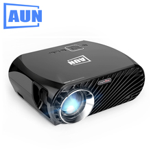 AUN SimpleBeamer Projector GP100, HD Resolution 1280*768, 3200 Lumens LED Projector for Home Theater. Suppor Full HD LED TV