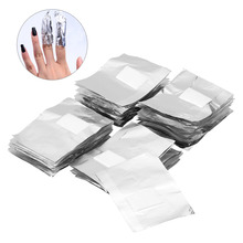 100Pcs/Bag Pro Aluminium Foil Acrylic Gel Polish Wipe Nail Art Remover Wraps Easy Cleaner Nail Care Removal Wraps Beauty Tools