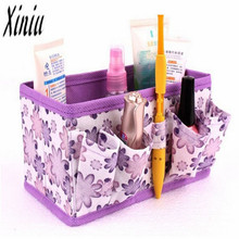 2017 New Makeup Cosmetic Storage Box Bag Bright Organiser Foldable Stationary Container travel organizer bag  mulheres Sacos
