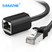 SAMZHE RJ45 Ethernet Extension Cable Adapter CAT 6 Network Extension Patch Cords Shielded Compatible with CAT 5 CAT 5E CAT 6(China)
