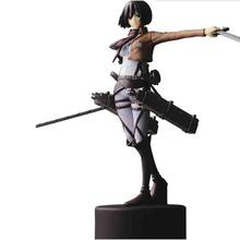 14cm Attack On Titan Action Figure Pvc Shingeki No Kyojin Mikasa Ackerman Figure Trendy Japaness Gift For Kids(China)
