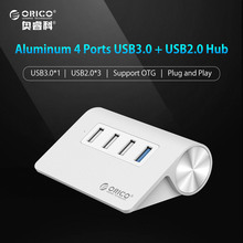 ORICO M3H4-U32 Aluminum 4 Ports USB HUB 3 USB 2.0 1 USB 3.0 Splitter OTG Hub for Apple Macbook with 1m USB Cable(China)