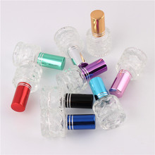 XYZ 9 Colors 5ml Fashion Empty MIni Water Cube Refillable Bottle Small Perfume Bottle Transparent Glass Perfume Bottle