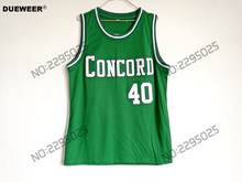 DUEWEER Mens Throwback Shawn Kemp Jersey Cheap Basketball Jersey #40 Shawn Kemp Concord High School Minutemen Retro Green Shirts(China)