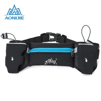 AONIJIE Sports Hydration Belt Bottle Holder Fanny Pack Marathon Running Reflective Adjustable Waist Belt Bags