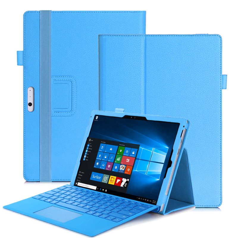 Luxury Flip Book case For Microsoft Surface Pro 4 / Pro 3 12.3 Tablet Wallet Leather Case Cover Stand Hands Holder<br>