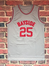 The Bell Zack Morris 25 Bayside Tigers Jersey Gray Men Basketball Jersey All stitched