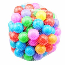 New 50pcs/lot Eco-Friendly Colorful Soft Plastic Water Pool Ocean Ball For Baby Funny Toys Stress Air Ball Outdoor Fun Sports