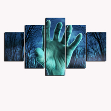 5 Pcs Halloween Joker Dead Hand Canvas Art HD Printed Painting Abstract  Painting Print Terrified Oil Wall Poster Custom Photos