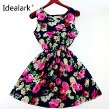2017 Plus Size Women's Clothing Lace Chiffon printed dress Casual vestidos Women Dress summer fashion Dresses WC0375-1