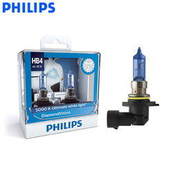 Philips HB4 9006 12V 55W алмазное видение 5000K супер белый свет Галогенные автомобильные лампы Противотуманные фары P22d 9006DV S2, пара