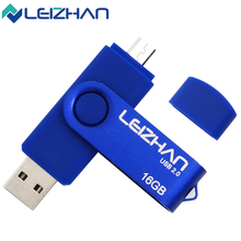 LEIZHAN The Real Capacity Dual OTG USB Flash Drive 64g 32g 16g 8g 4gig Matel OTG Pendrive USB Stick Pen Drive For Android Phone