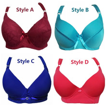 2017 New Style Plus size Underwired Padded thin Sexy Full Lace Coverage Big Cup Volumn Push up Bras 34D-100DD Cup Bra H227