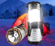 Camping Lantern Tent Retractable USB Solar Camping Lamp LED Portable Lantern Light for Climbing Camping Emergency EU Plug(China)
