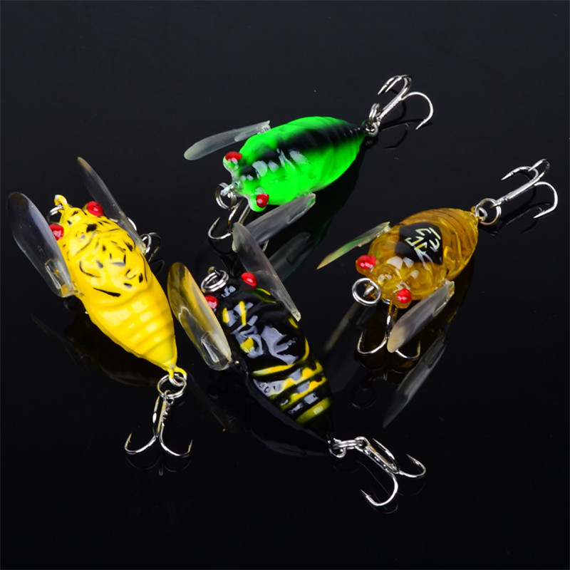 2017 Time-limited Rushed Fly Fishing 1pcs Colors Fishing 4cm/6.4g Tackle Cicada Classic Bass Crankbaits Outdoor Tool Accessories<br><br>Aliexpress