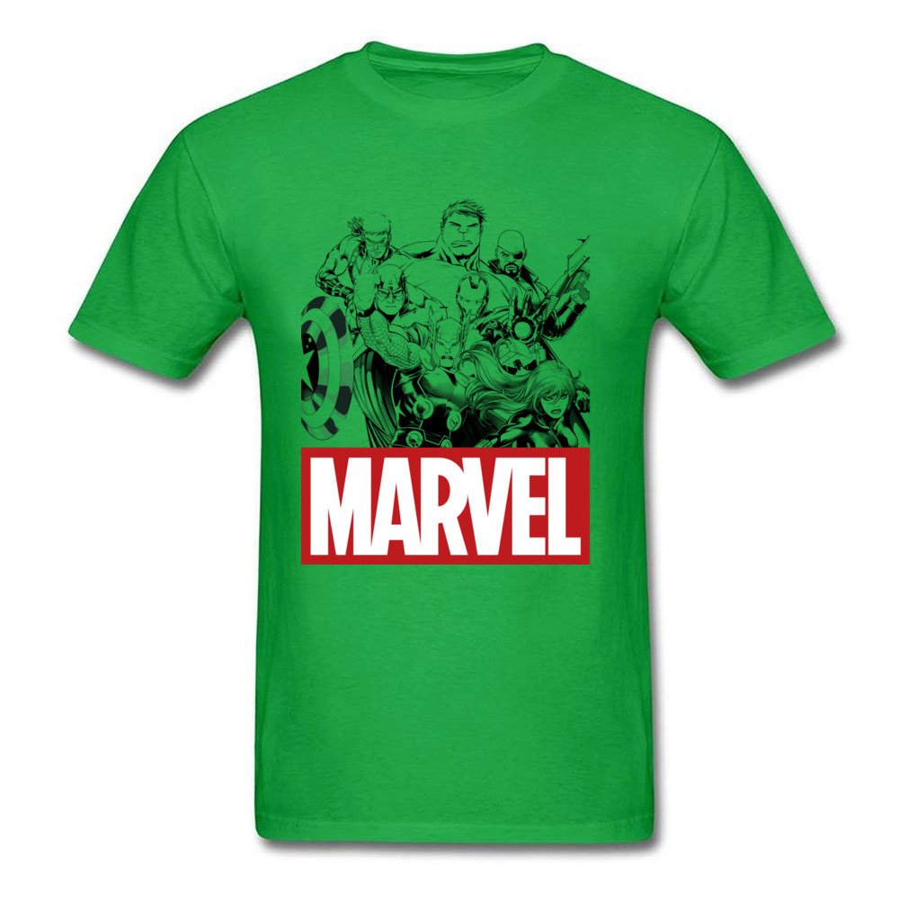 Newest Male Top T-shirts Crew Neck Short Sleeve 100% Cotton Star Wars Marvel Heroes Logo Tops & Tees Print Tops & Tees Marvel Heroes Logo green