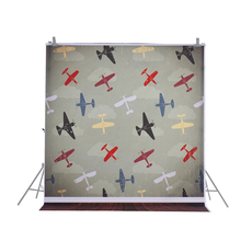 1.5 * 2m Photography Backdrop Computer Printed Airplane Pattern Background for Children Kid Baby Newborn Photo Studio Shooting