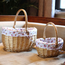 Handmade Storage Wicker Baskets for Picnic Food Drink Toys Sundries Novelty Christmas Gift for Girl small & large laundry basket(China)