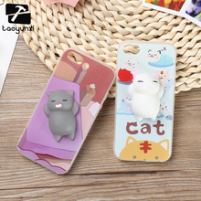 Squishy Cover Case for iPhone 5 5S 3D Case Painted Silicone TPU Polar Bear Cat Claw for iPhone 6 6S Plus 7 7 Plus Squishy Cover
