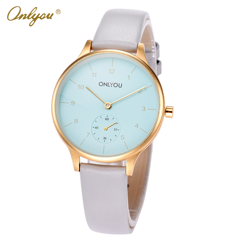 Onlyou Brand Girls Quartz Wrist Watches Leather Strap 30m Waterproof Big Dial Ladies Dress Watch Fashion Casual Bracelet 85000<br>