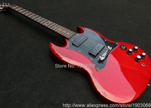 2017 line up Special SG P90 electric guitar,Solid manogany body wine red Signature SG guitar,Free shipping(China)