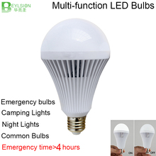 2X Intelligent LED Bulb 5W 7W 9W 12W > 4 hours LED Emergency Light Rechargeable LED Bulb Lamp E27 B22 for Home Lights