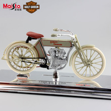 1:18 scale kids Harley 1909 TWIN 5D V 74FL Hydra Glide vintage motorcycle Motocross diecast model street race metal toys for boy