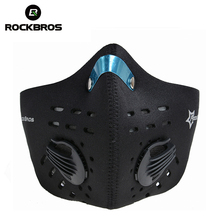 Rockbros Bike Cycling Anti-dust Half Face Mask with Filter Neoprene Wind Stopper Sports Masks For Bicycle Motor Cycle 5 Colors(China)