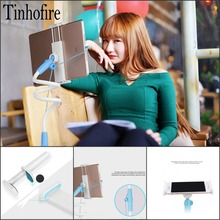 Tinhofire 360 Rotating Flexible 100CM Bedside Table side Tablet PC holder stand mount bracket for Mobile phone Pad Ipad Tablet(China)