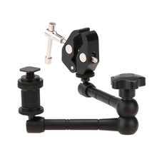11inch Adjustable Friction Articulating Magic Arm + Super Clamp For DSLR LCD Monitor LED Light Camera Accessories