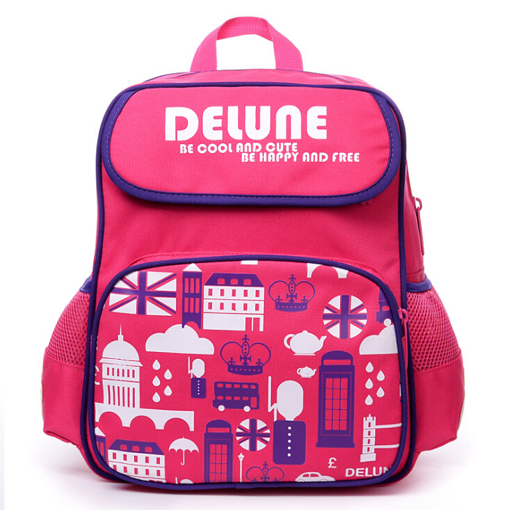 Delune Brand 1-3 Grade Kids Backpack Schoolbag for Boys Girls New Design Cute Cartoon School bags Top Quality Printed SchoolBags<br><br>Aliexpress