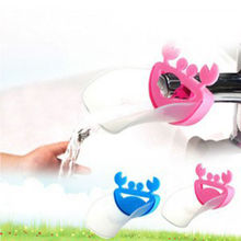 1PC Cute Cartoon Bathroom Sink Faucet Extender For Kid Children Kid Washing Hands Accessories For Bathroom Set ZM