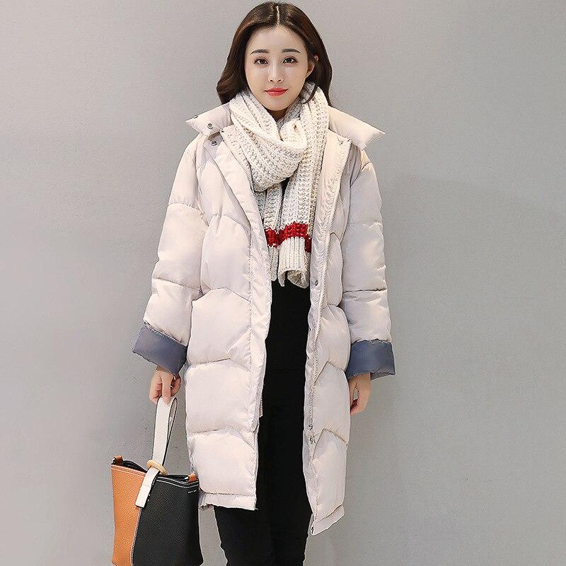 Novehekali 2017 Winter new hooded thick large size cotton women Parkas hats long section  knee women cotton jacket wholesaleÎäåæäà è àêñåññóàðû<br><br>