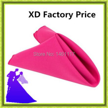 "100pcs/lot 20""x20"" Polyester plain napkin match the table cloth factory manufacture(China)"