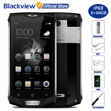 "Blackview BV8000 Pro IP68 Waterproof 4G Mobile Phone 5.0"" FHD MTK6757 Octa Core 6GB RAM 64GB ROM 16MP Cam Side Fingerprint ID"