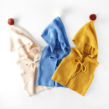 Kids Girls Vests Children's knited cardigan Cotton Warm Vest Baby Sweet Solid Waistcoat Outerwear toddler Girl/Boys clothing