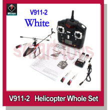 New v911 Upgrade Wltoys V911-Pro V911-V2 4Channel 2.4GHz RC Helicopter White(China)
